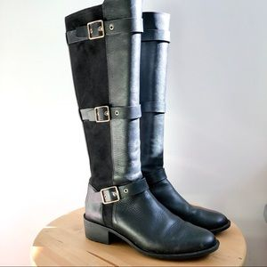 COLE HAAN black leather riding boot, size 5.5